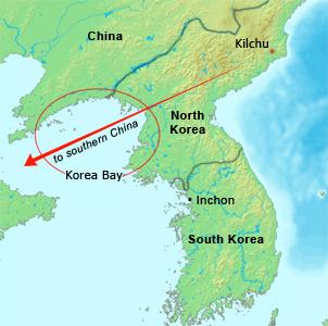 Korea Bay Map