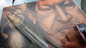 Hugo Chavez in painting
